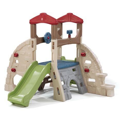 Step2 Alpine Ridge Aire de Jeux Enfant avec Toboggan pour Enfants | extérieur / jardin