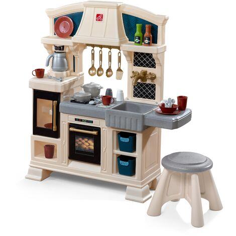 Step2 Classic Chique Cuisine Enfant en Plastique   Jeu / Jouet Cuisine pour Enfants avec Kit d'accessoires de 28 Pièces