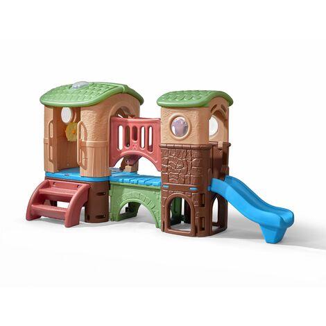Step2 Clubhouse Climber Aire de Jeux Enfant | Toboggan pour Enfants intérieur ou extérieur / jardin