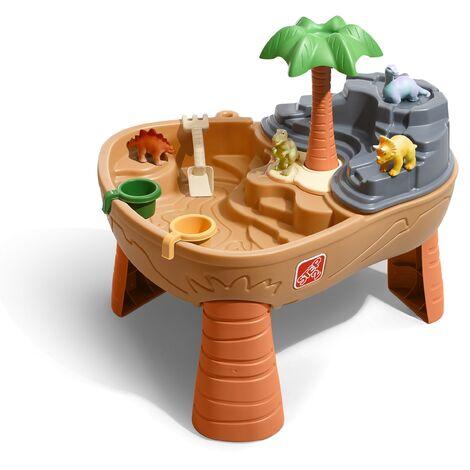 Step2 Dino Dig Table de jeu Sable et Eau | Avec Kit d'Accessoires de 7 Pièces | Table Activité Enfant à Eau pour le jardin