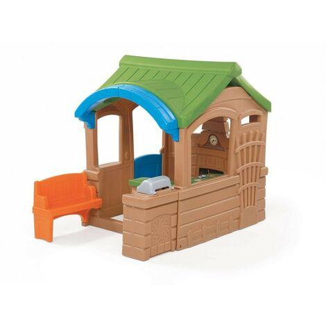 Step2 Gather & Grille Maison Enfant en Plastique | Maison de Jeux pour l'extérieur / jardin ou l'intérieur | Maisonnette / Cabane de Jeu avec Cuisine & Accessories