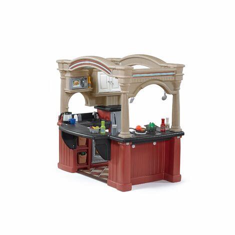 Step2 Grand Walk-In Kitchen Cuisine / Restaurant Enfant en Plastique   Grande Jeu / Jouet Cuisine pour Enfants avec Kit d'accessoires de 103 Pièces