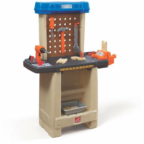 Step2 Handy Helper's Workshop Etabli pour Enfant   Jeu de bricolage avec Outils & Kit d'Accessoires de 22 Pièces   Jouet en plastique pour Enfants