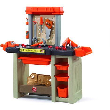 Step2 Handyman Workbench Etabli pour Enfant   Jeu de bricolage avec Outils & Kit d'Accessoires   Jouet en plastique pour Enfants