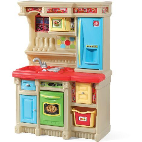 Step2 LifeStyle Custom Cuisine Enfant en Plastique Multicolore   Jeu / Jouet Cuisine pour Enfants avec Kit d'accessoires de 20 Pièces