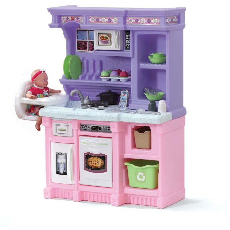 Step2 Little Baker Cuisine Enfant en Rose / Violet en Plastique | Jeu / Jouet Cuisine pour Enfants avec Kit d'accessoires de 21 Pièces