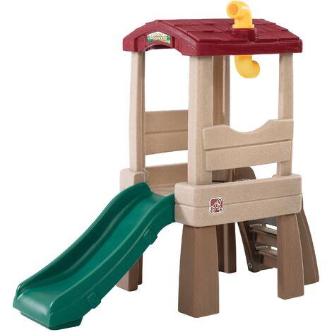 Step2 Lookout Treehouse Aire de Jeux Enfant | Toboggan pour Enfants intérieur ou extérieur / jardin
