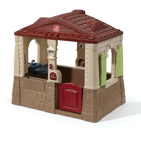 Step2 Neat and Tidy Maison Enfant en Plastique | Maison de Jeux pour l'extérieur / jardin | Maisonnette / Cabane de Jeu avec Cuisine & Accessories