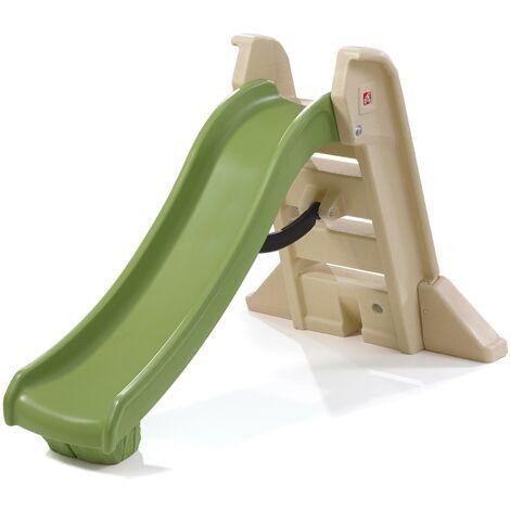 Step2 Play & Fold Toboggan pliant pour Enfants vert | Toboggan enfant | Toboggan de 162 cm en plastique
