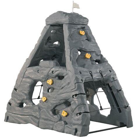 Step2 Skyward Summit Kiddimandjaro Triangle / Cadre d'Escalade Enfant en Gris   Jeux escalade en Plastique pour Enfants