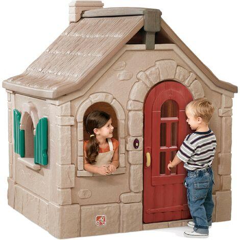 Step2 Storybook Cottage Maison Enfant en Plastique | Maison de Jeux pour l'extérieur / jardin ou l'intérieur | Maisonnette / Cabane de Jeu avec Cuisine & Accessories