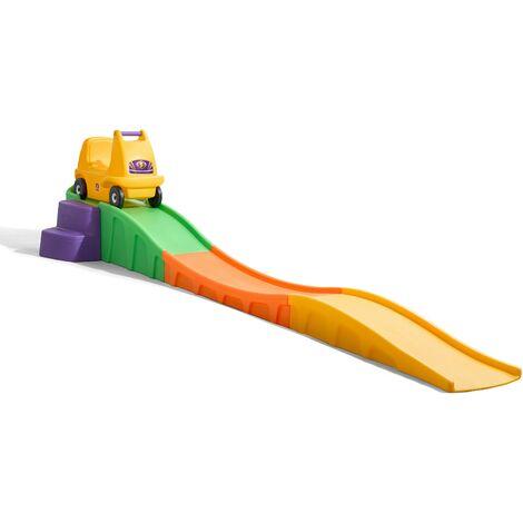 Step2 Up & Down Roller Coaster | Montagnes Russes / Toboggan Enfant | Jouet avec porteur Auto / Voiture pour Enfants