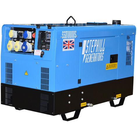 Stephill SSD10000S 10.0 kVA Kubota Water Cooled Super Silent Diesel Generator - 3000 RPM