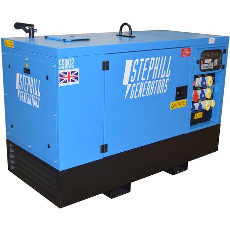 Stephill SSDK12M 12.0 kVA Kubota Super Silent Multi Phase Diesel Generator - 1500 RPM