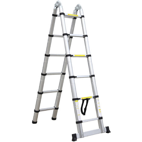 Stepladder, Multi-Purpose Ladder, 3.8 meters (12.5 feet), Stabilizing bar, EN 131, Standard/Certification: EN131