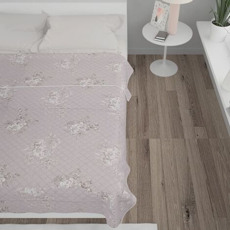 Steppdecke Taupe 220×240 cm Ultraschall Stoff