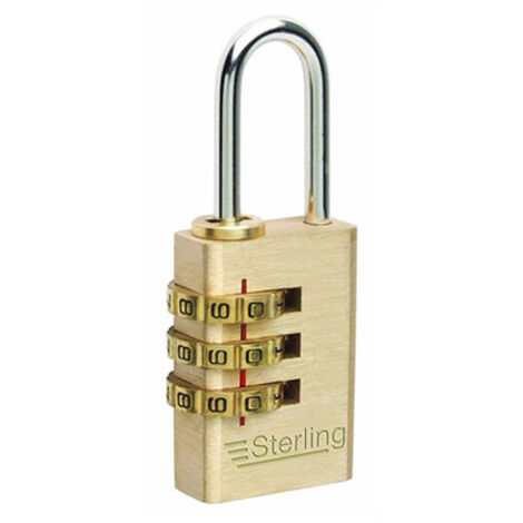 Cheapest On Sterling 40mm Brass Combination Padlock 4 Dial New