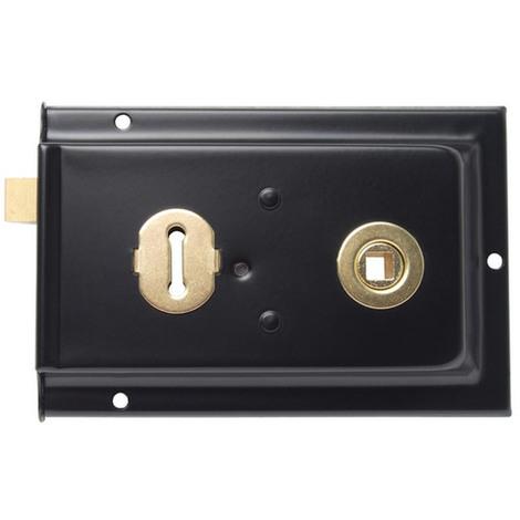 Sterling SRL004 Rim Lock Sash Black 152 x 101mm