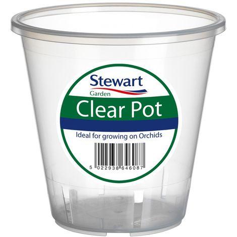 Stewart Clear Orchid Pots 11cm / 13cm / 16cm / 18.5cm