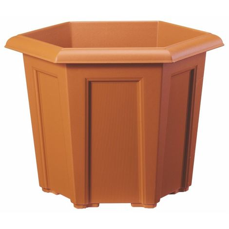 Stewart Garden Regency Hexagonal Planter 40cm Terracotta