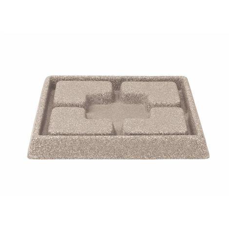 Stewarts Garden Cotswold Decorative Saucer Square - 25cm - Light Sand (5134080)