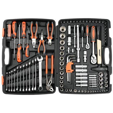 Sthor Kit d'outils métalliques 122 pièces