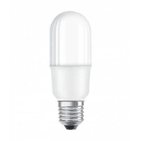 Stick LED E27 dépoli avec radiateur 7 watt (eq. 53 watt) - Couleur - Blanc chaud 3000°K