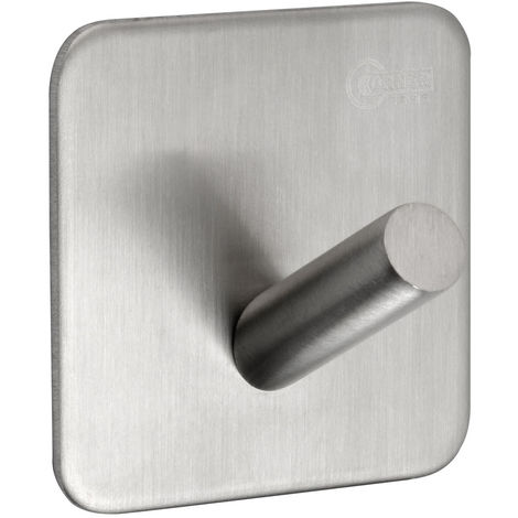 Stick on Towel Hooks for Bathrooms with Brushed Stainless Steel Finish