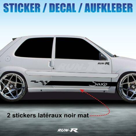 Sticker 958 TUNING STRIPE Citroen Saxo noir mat Run-R Stickers