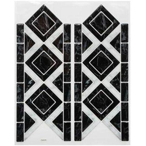Sticker Carrelage Frise 12x30cm Noir