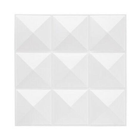 Sticker effet relief - 6 plaquettes de 9 carreaux - Blanc