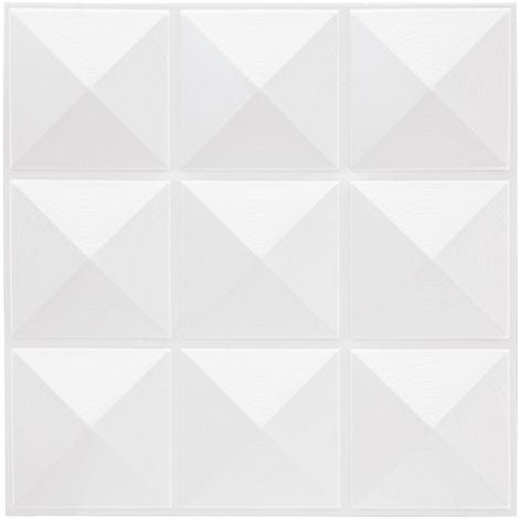 Sticker carrelage Pic - Blanc - Blanc