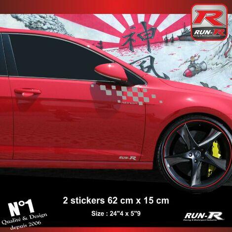 Sticker compatible avec VW GOLF 7 aufkleber - Argent Motorsport