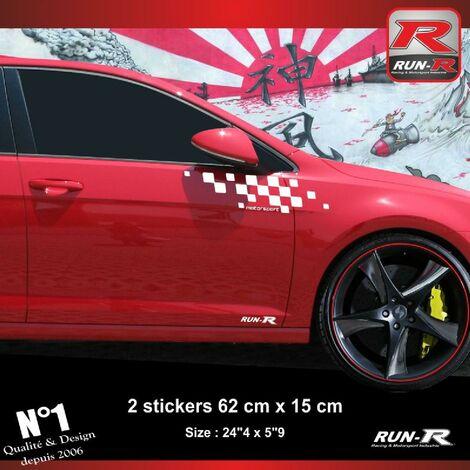 Sticker compatible avec VW GOLF 7 aufkleber - Blanc Motorsport