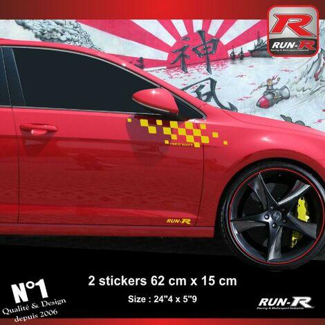 Sticker compatible avec VW GOLF 7 aufkleber - Jaune Motorsport