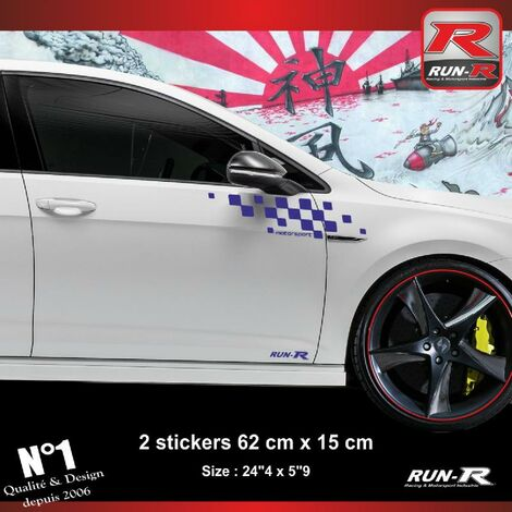 Sticker compatible avec VW GOLF 7 aufkleber - Marine Motorsport