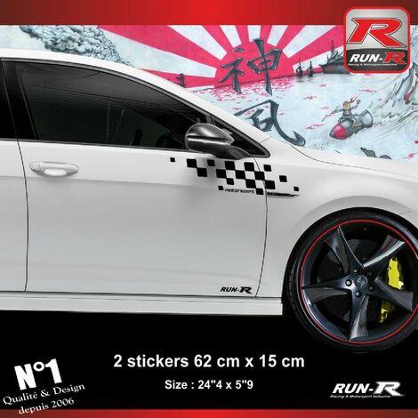 Sticker compatible avec VW GOLF 7 aufkleber - Noir Motorsport