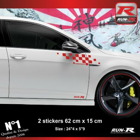 Sticker compatible avec VW GOLF 7 aufkleber - Rouge Motorsport