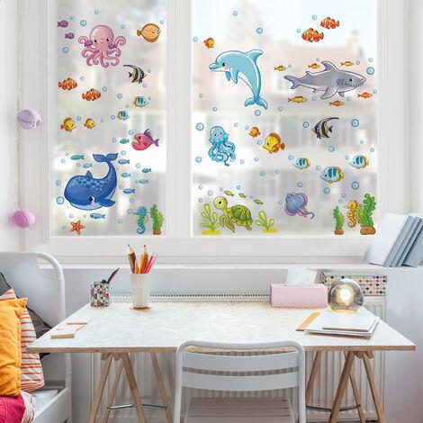 Sticker de fenêtre Underwater World - Fish Set