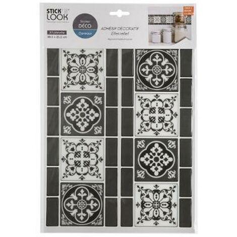 Sticker Déco Carrelage 25x38cm Noir