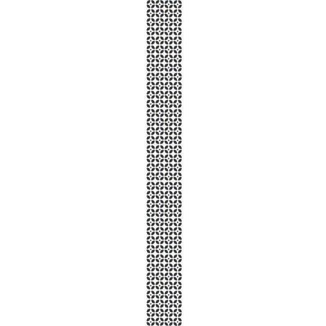 Sticker déco carrelage Montefano vinyle 10x10 cm Noir et Blanc Plage