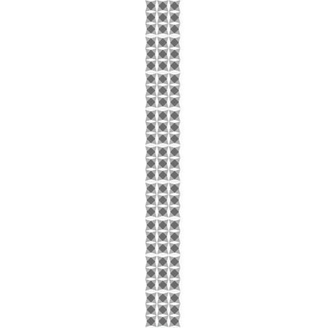 Sticker déco carrelage Nereto vinyle 10x10 cm Noir et Blanc