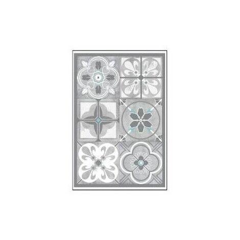 Sticker effet carrelage en ciment - 6 carreaux - Gris