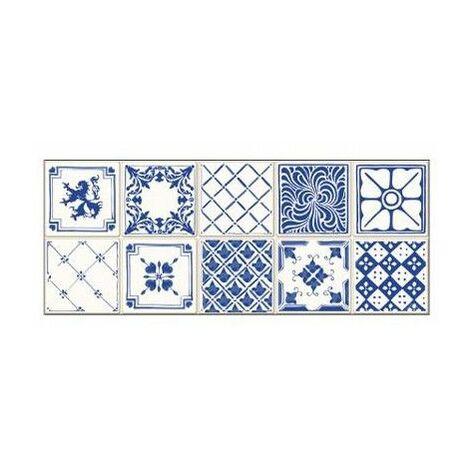 Sticker effet frise XL - L 200 x l 10 cm - Carrelage bleu