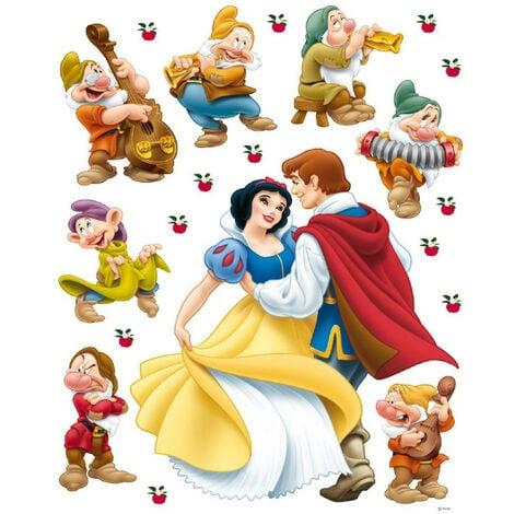 Sticker géant Princesse Blanche Neige et Prince Charmant Disney