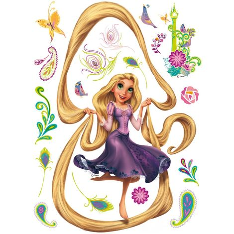 Sticker géant Princesse Raiponce Cheveux Disney