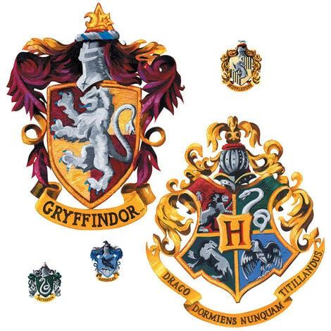 Sticker geant repositionnable Blasons Griffondor et Poudlard Harry Potter 45,7CM X 101,6CM