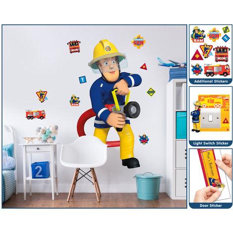 Sticker Géant Sam le Pompier