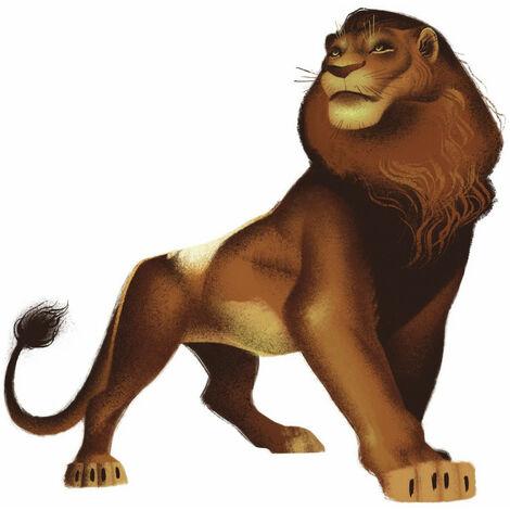 Sticker Geant Simba Film Le Roi Lion Disney 64 X 66 Cm