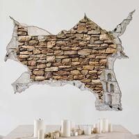 Sticker mural 3D - American Stone Wall - Landscape Format 3:4